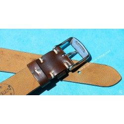 ★☆☆ BRACELET MONTRES COW BOY HORWEEN SHELL CUIR CORDOVAN ULTRA FIN 18mm COULEUR CHOCOLAT★☆☆