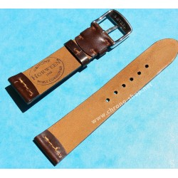 ★☆Handcrafted Genuine Cowboy watches strap Horween Shell Cordovan Leather Watch Band Bracelet Chocolate color 18mm★☆