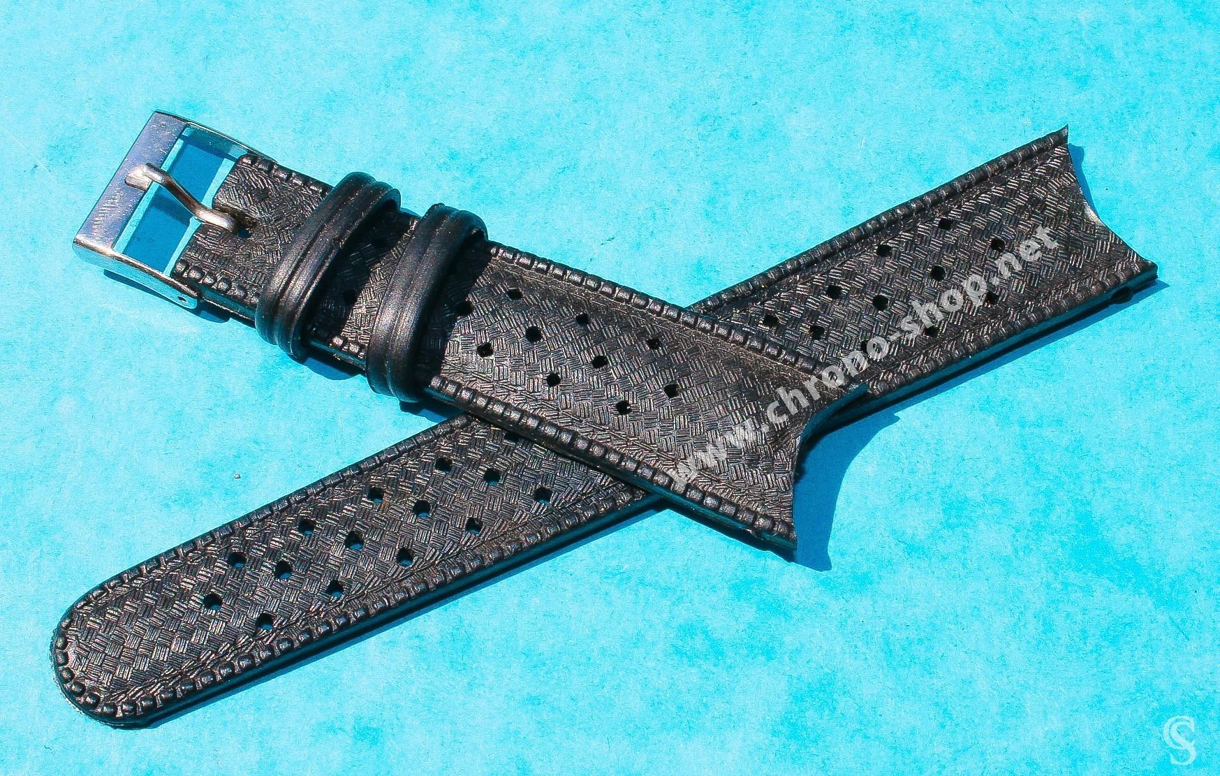 Genuine 70 S 19mm Tropic Swiss Dive Watch Strap Bracelet Curved Ends Nos 1960s 70s Rolex Tudor Omega Iwc Triton