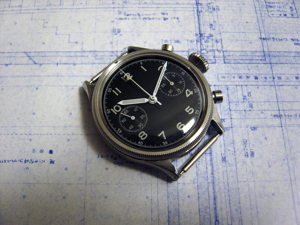 rare vintage cadran 1956 montre ancienne de pilote breguet type xx militaire chrono shop. Black Bedroom Furniture Sets. Home Design Ideas